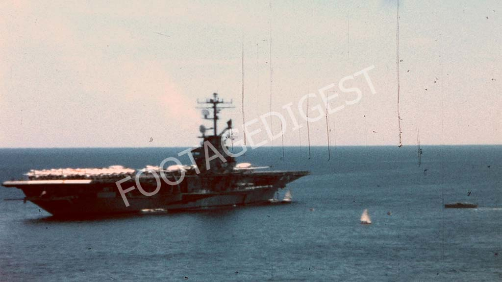 An American Navy Aircraft Carrier in the Mediterranean sea