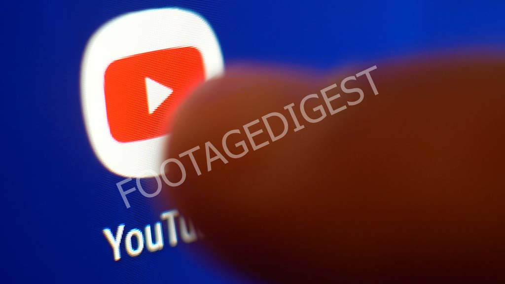 Man Pointing On Youtube Social Network Media icon